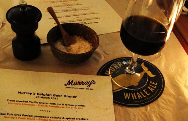 Beer & Food: Murray's Belgian Dinner