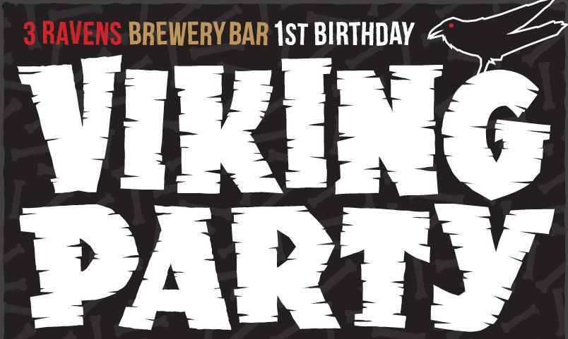 Viking Party – 3 Ravens Brewery Bar First Birthday (VIC)